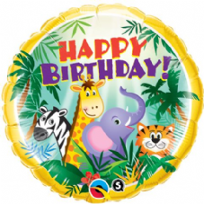 Birthday Jungle Friends Foil Helium Balloon